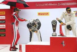 Podium Trofeo Pirelli Am : le vainqueur #8 Ferrari of Ft. Lauderdale Ferrari 458