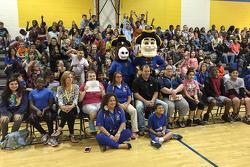 Райан Ньюман, Річард Чілдресс Racing Chevrolet visits a school in Dover, DE