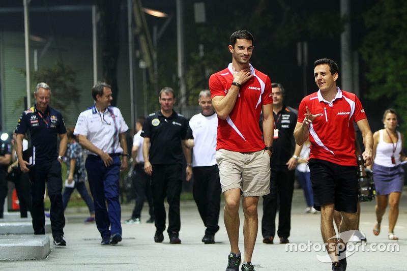 Alexander Rossi, Manor Marussia F1 Team, mit Fabio Leimer, Manor Marussia F1 Team, Test- und Ersatzf