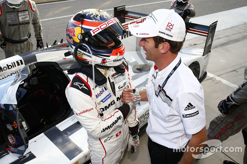Polesitters Neel Jani and Romain Dumas, Porsche Team