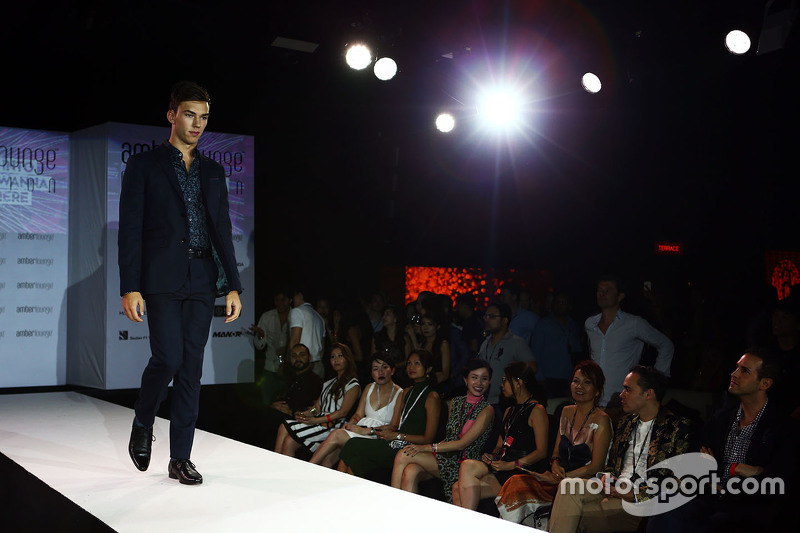 Pierre Gasly, Red Bull Racing Test Driver at the Amber Lounge Fashion Show