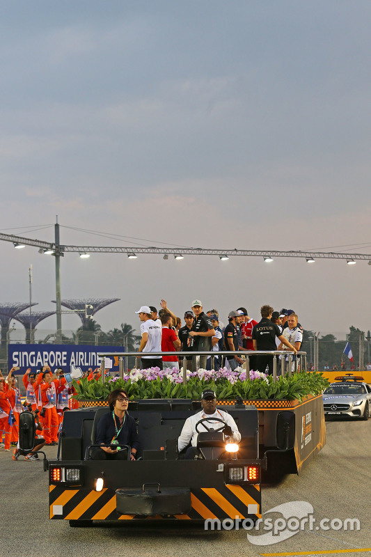 Desfile dos pilotos