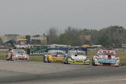 Carlos Okulovich, Sprint Racing Torino and Omar Martinez, Martinez Competicion Ford and Nicolas Bonelli, Bonelli Competicion Ford and Mariano Altuna, Altuna Competicion Chevrolet