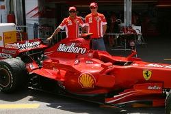 Scuderia Ferrari, use a different tone of paint from this weekend, Felipe Massa, Scuderia Ferrari and Kimi Raikkonen, Scuderia Ferrari