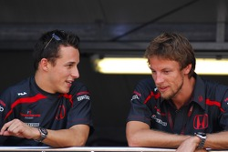 Christian Klien, Test Driver, Honda Racing F1 Team and Jenson Button, Honda Racing F1 Team