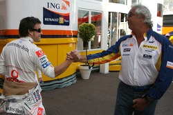 Fernando Alonso, McLaren Mercedes and Flavio Briatore, Renault F1 Team, Team Chief, Managing Director