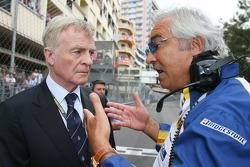 Max Mosley, FIA President and Flavio Briatore, Renault F1 Team, Team Chief, Managing Director