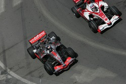 Fernando Alonso, McLaren Mercedes and Takuma Sato, Super Aguri F1