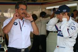 Sebastian Vettel mit BMW-Sportchef Mario Theissen