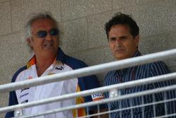Flavio Briatore, Renault F1 Team, Team Chief, Managing Director and Nelson Piquet