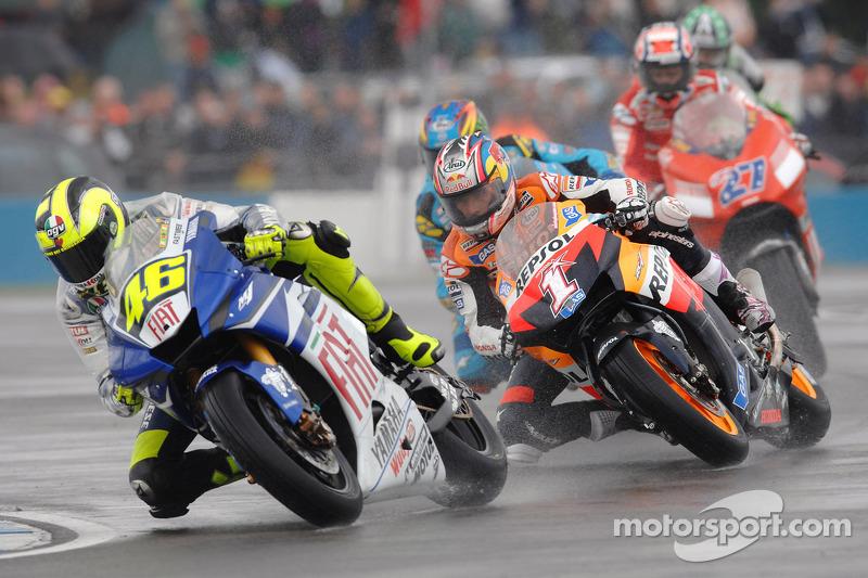 2007: Valentino Rossi, Nicky Hayden, John Hopkins y Casey Stoner