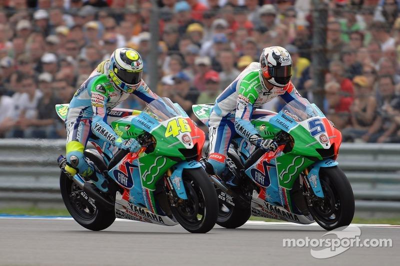 Fiat Yamaha - Valentino Rossi dan Colin Edwards (Yamaha) - MotoGP Belanda 2007