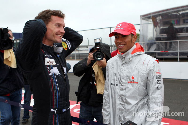 David Coulthard, Red Bull Racing y Lewis Hamilton, McLaren Mercedes