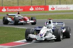 Nick Heidfeld, BMW Sauber F1 Team, F1.07 and Ralf Schumacher, Toyota Racing, TF107