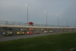 The pace-car leads the field