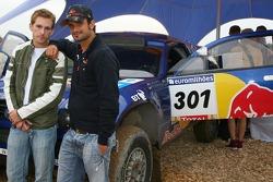Scott Speed, Scuderia Toro Rosso and Vitantonio Liuzzi, Scuderia Toro Rosso with a Volkswagen Dakar vehicle