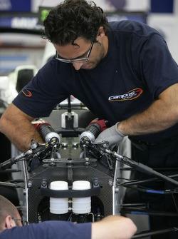 A Campos Grand Prix team member