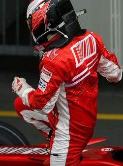 Pole winner Kimi Raikkonen, Scuderia Ferrari, F2007