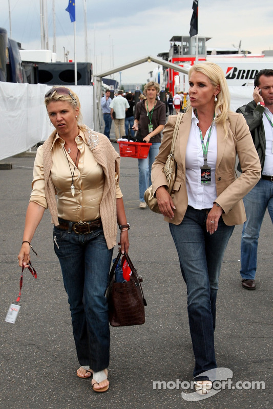 Corina Schumacher, Corinna, Wife of Michael Schumacher at European GP