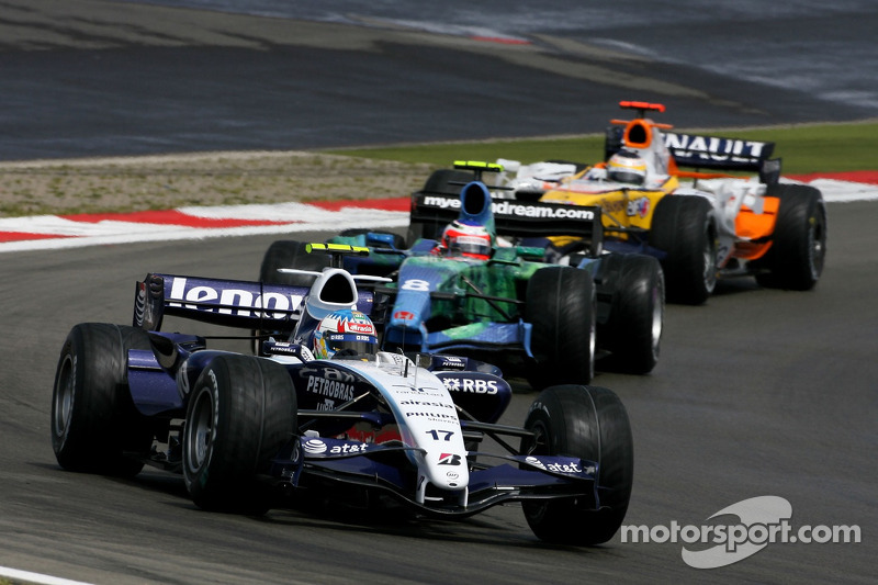 Alexander Wurz, Williams F1 Team, Rubens Barrichello, Honda Racing F1 Team, Giancarlo Fisichella, Re