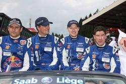 Karl Wendlinger, Ryan Sharp, Lukas Lichtner-Hoyer and Robert Lechner