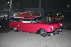 Boyd Coddington custom hot rod on display in Plaza