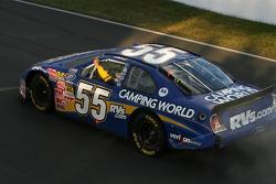 Robby Gordon celebrates a race he believes he won