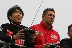Remote controlled bike race: Noriyuki Haga, Troy Bayliss