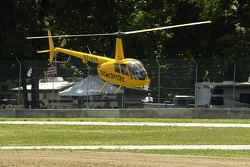 Showcopters shooting video low around the track