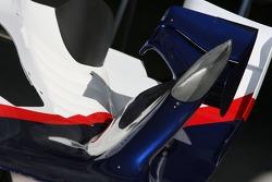 BMW Sauber F1 Team, F1.07, bodywork detail