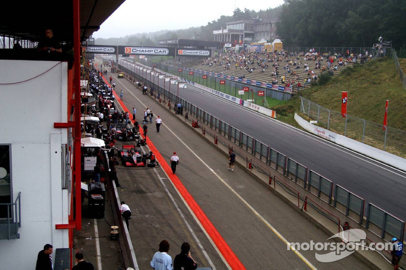 And the track side