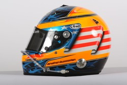Jonathan Summerton, driver of A1 Team USA, helmet