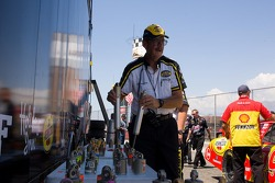 NASCAR official at shock impound