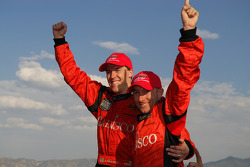 2007 Grand-Am Rolex Series DP champions Alex Gurney and Jon Fogarty celebrate