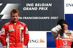 Kimi Raikkonen, Scuderia Ferrari, Fernando Alonso, McLaren Mercedes