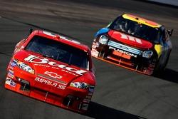 Dale Earnhardt Jr. leads David Gilliland