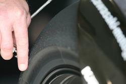 Detail of Kawasaki tire