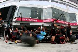 Honda Racing F1 Team, practice pitstops