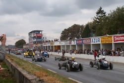 A small grid of single seaters