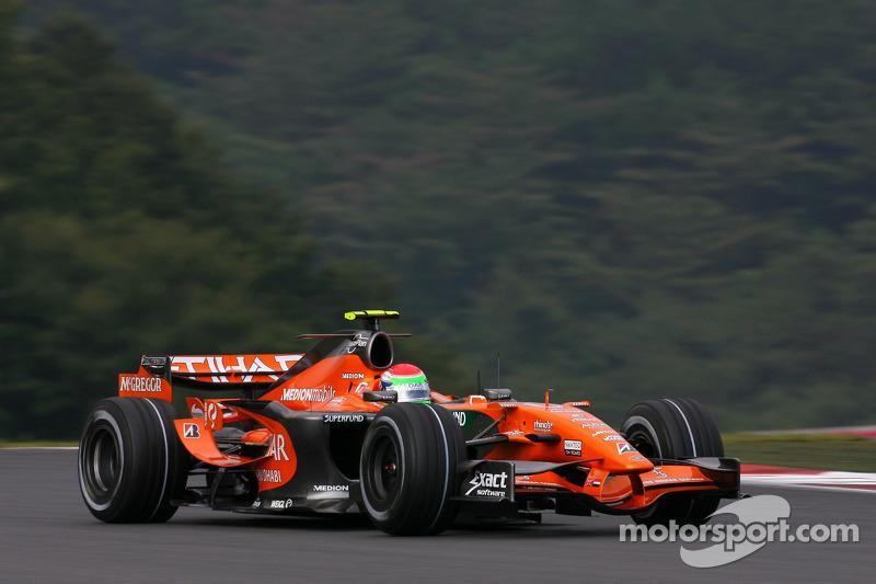 #21: Сакон Ямамото, Spyker F1 Team, Spyker F8-VII