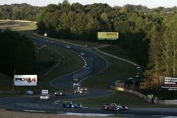 #1 Audi Sport North America Audi R10 TDI Power: Rinaldo Capello, Allan McNish leads the field under yellow