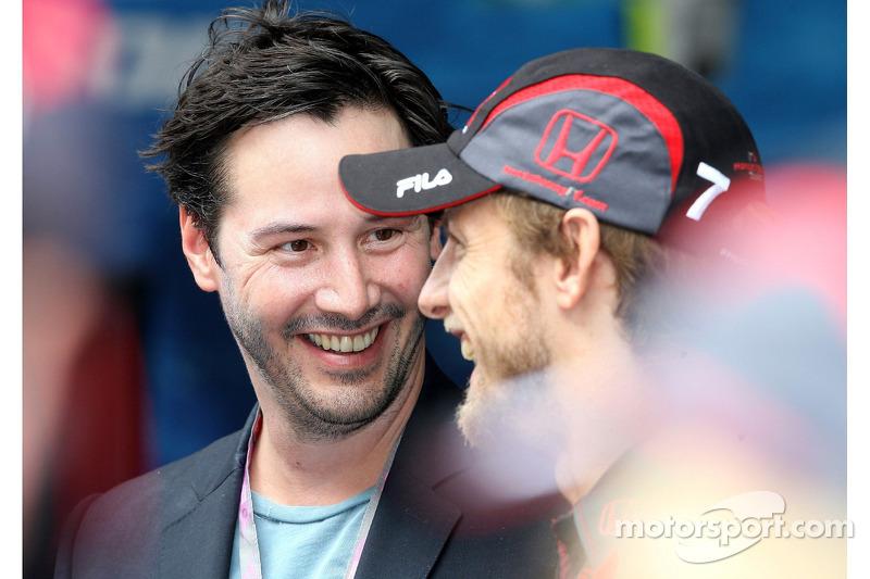 Keanu Reaves y Jenson Button, Honda Racing F1 Team
