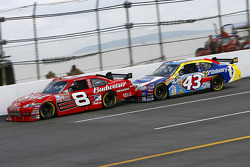 Race leader Dale Earnhardt Jr. gets a boost from Bobby Labonte