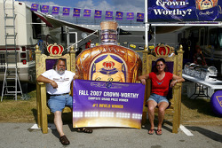 The grand prize winners in the Decorate your Campsite contest sponsored by Crown Royal at Talladega Superspeedway