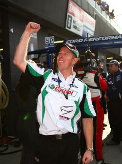 Steven Richards celebrating