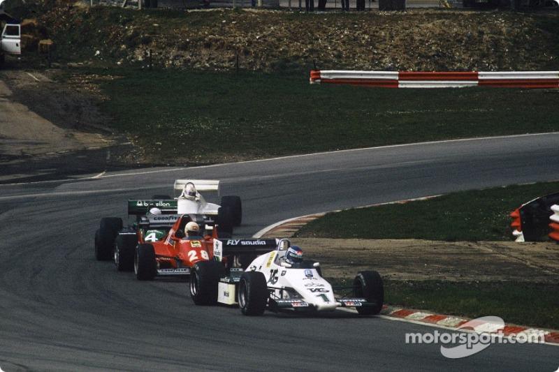 Keke Rosberg, René Arnoux, Danny Sullivan et Alan Jones