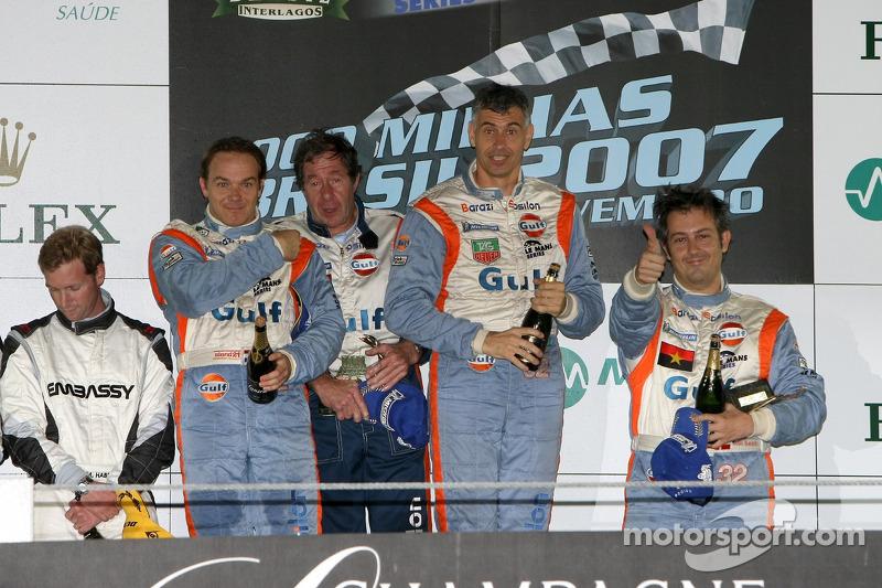 LMP2 podium: class winners Juan Barazi, Michael Vergers and Karim Ojjeh