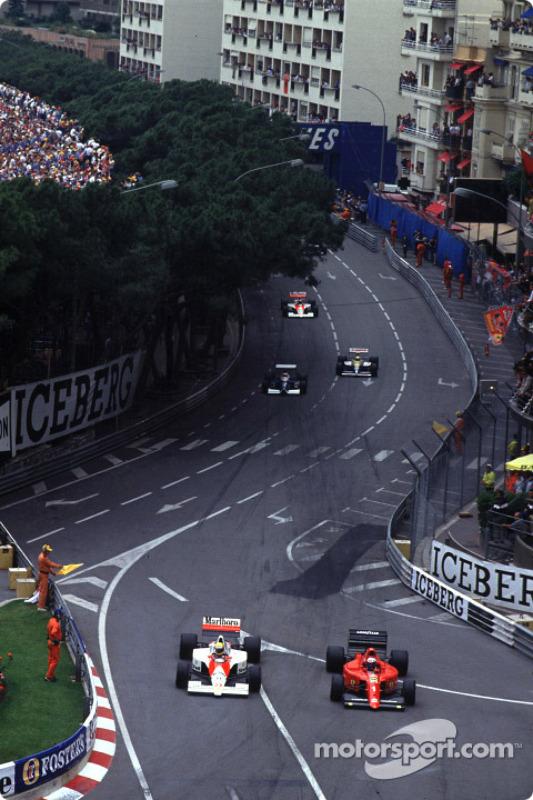 Ayrton Senna e Alain Prost na temporada de 1990, marcada pela revanche