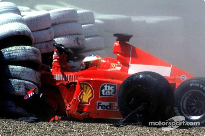 Choque de Michael Schumacher