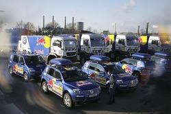 Volkswagen send-off event: Volkswagen Dakar Team at Wolfsburg